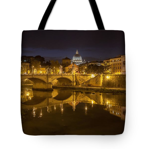 Basilica Over The River Tiber Tote Bag by Ed Cilley