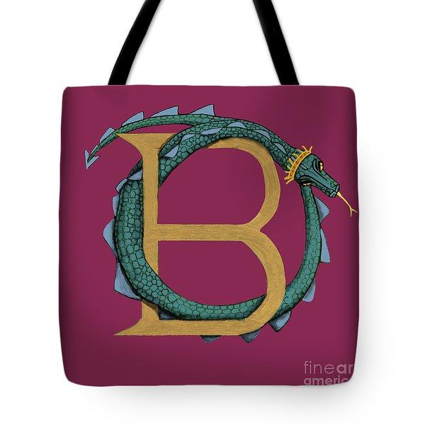 Basilisk Letter B Tote Bag by Donna Huntriss