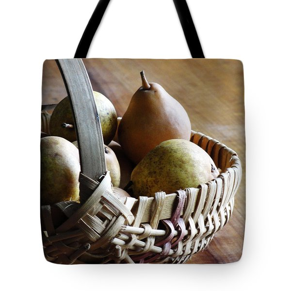 Basket And Pears Tote Bag
