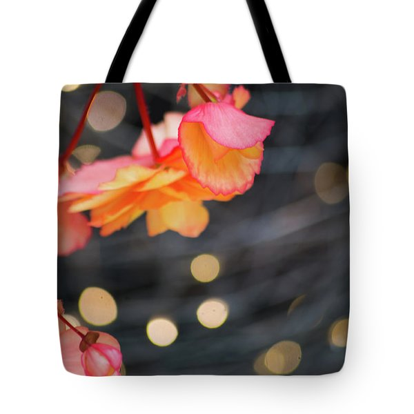 Tote Bag featuring the photograph Basket Begonia by Lora Lee Chapman