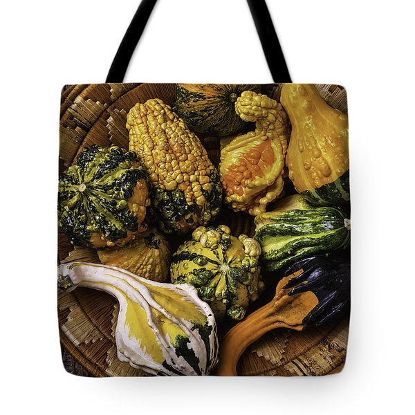 Basket Full Of Autumn Gourds Tote Bag