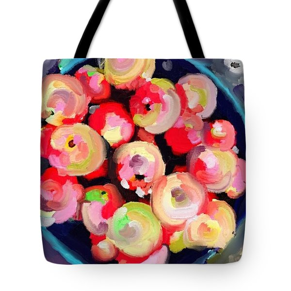 Basket Of Apples At Rockport Farmer's Market Tote Bag by Melissa Abbott