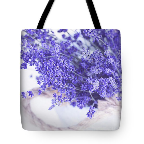 Basket Of Lavender Tote Bag