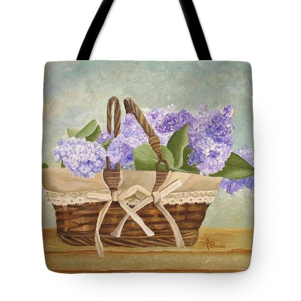 Basket Of Lilacs Tote Bag
