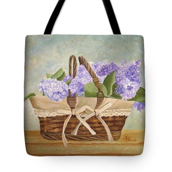 Basket Of Lilacs Tote Bag