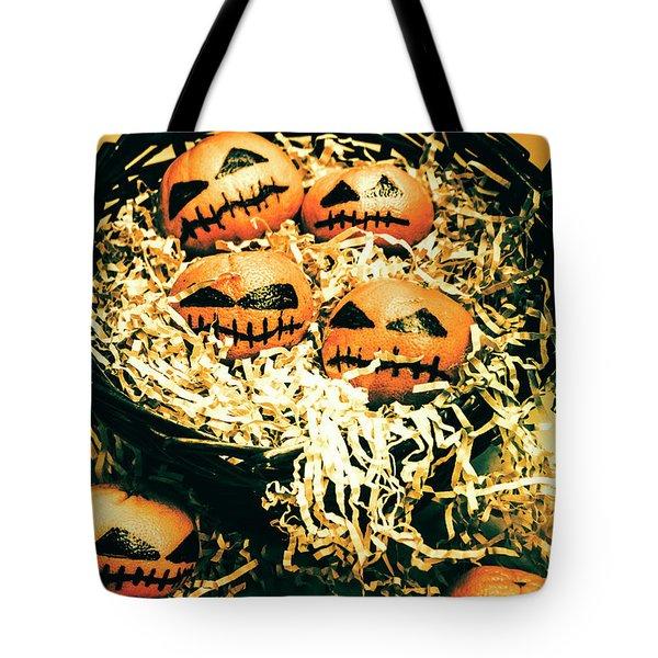 Basket Of Little Halloween Horrors Tote Bag