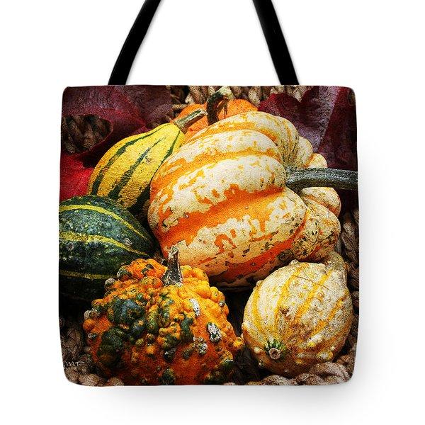 Basket Of Pumpkins Tote Bag