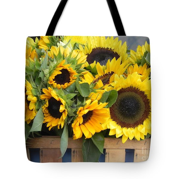 Basket Of Sunflowers Tote Bag by Chrisann Ellis
