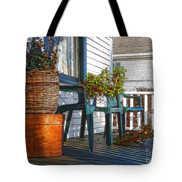 Basket Porch Tote Bag by Betsy Zimmerli