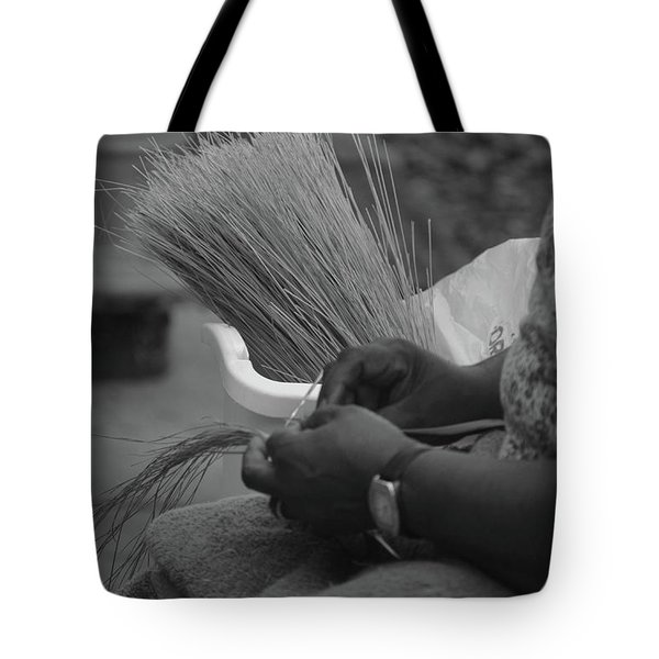 Basket Weaver Tote Bag