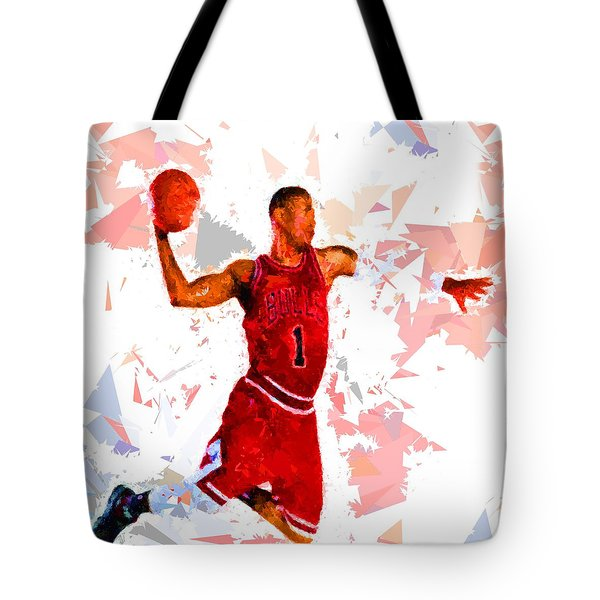 Tote Bag featuring the painting Basketball 1 by Movie Poster Prints