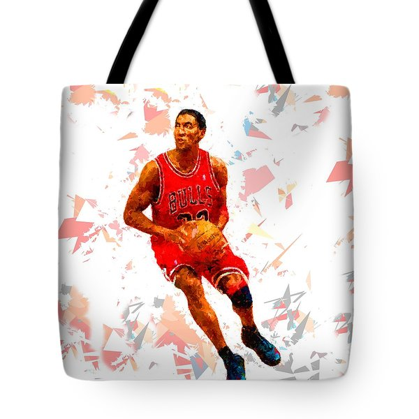Tote Bag featuring the painting Basketball 33 by Movie Poster Prints