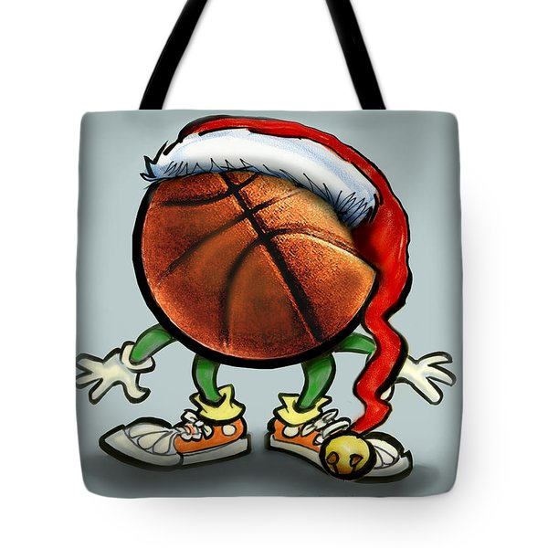 Basketball Christmas Tote Bag by Kevin Middleton
