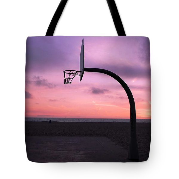 Basketball Court At Sunset Tote Bag