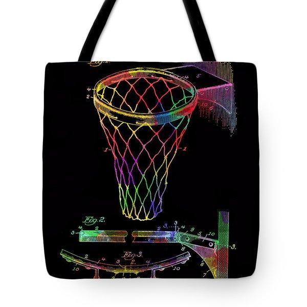 Basketball Goal Vintage Patent 1924 Tote Bag
