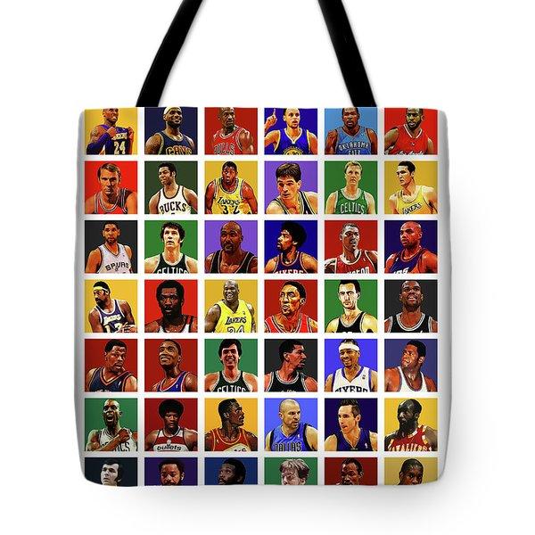 Basketball Legends Tote Bag