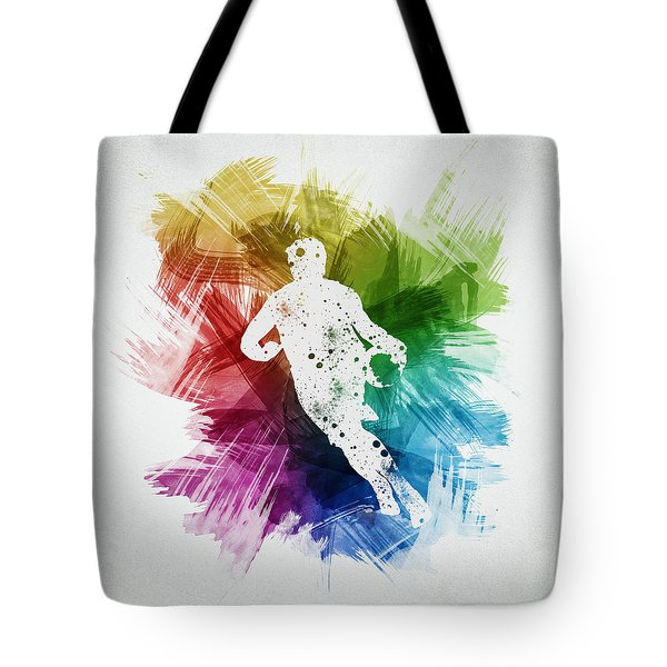 Basketball Player Art 08 Tote Bag