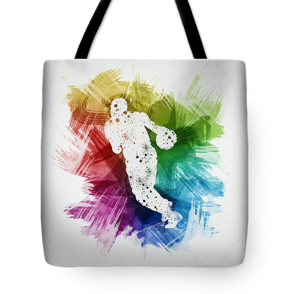 Basketball Player Art 26 Tote Bag