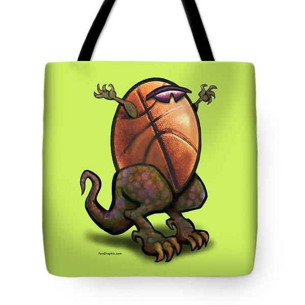 Basketball Saurus Rex Tote Bag