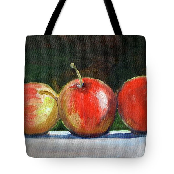 Basking Apples Tote Bag