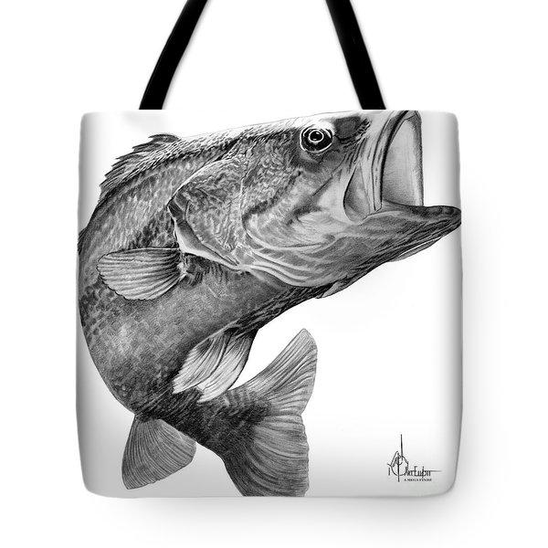 Bass Drawing Tote Bag