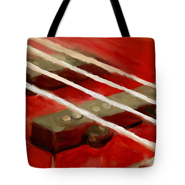 Bass Guitar Tote Bag by Jeff Montgomery