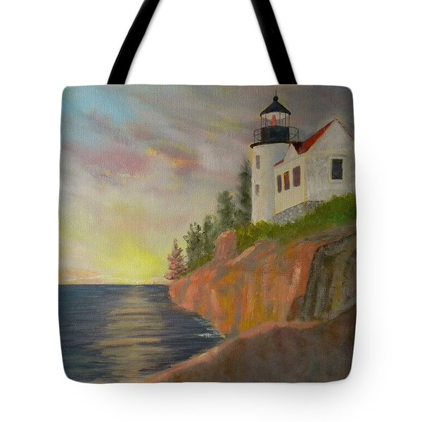 Bass Harbor Light Tote Bag