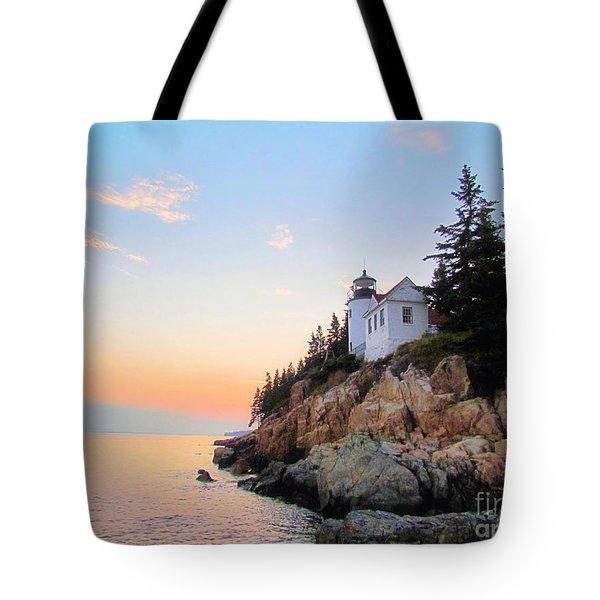 Bass Harbor Sunset II Tote Bag