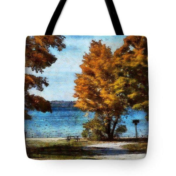 Bass Lake October Tote Bag