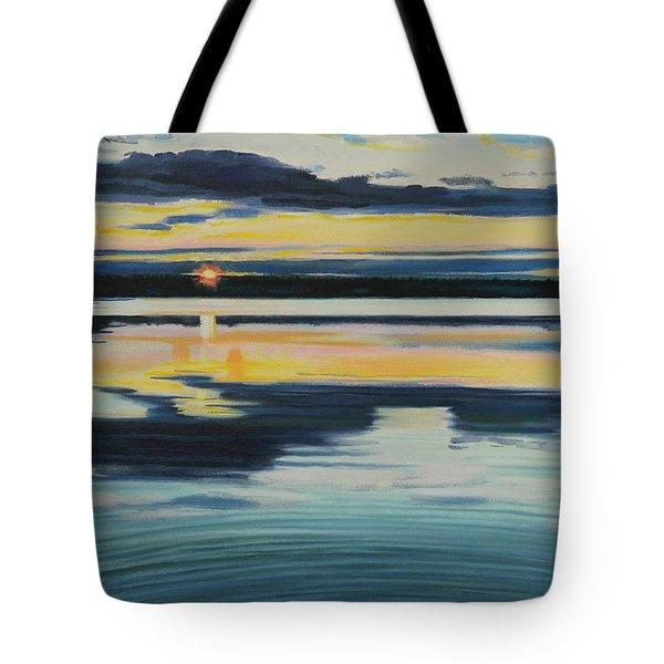 Bass Lake Sunset Tote Bag