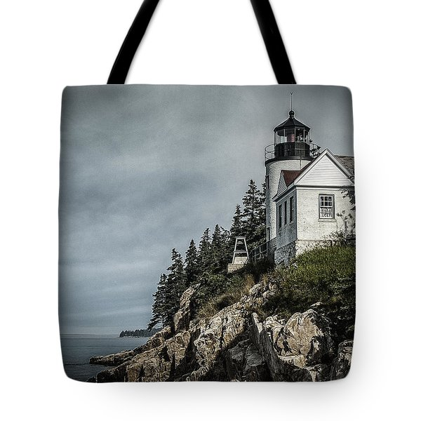 Bass Lighthouse Maine Tote Bag