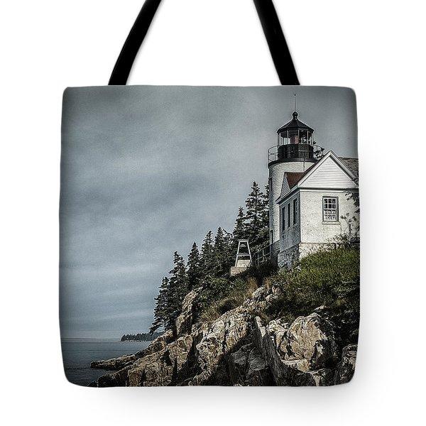 Bass Lighthouse Maine Tote Bag