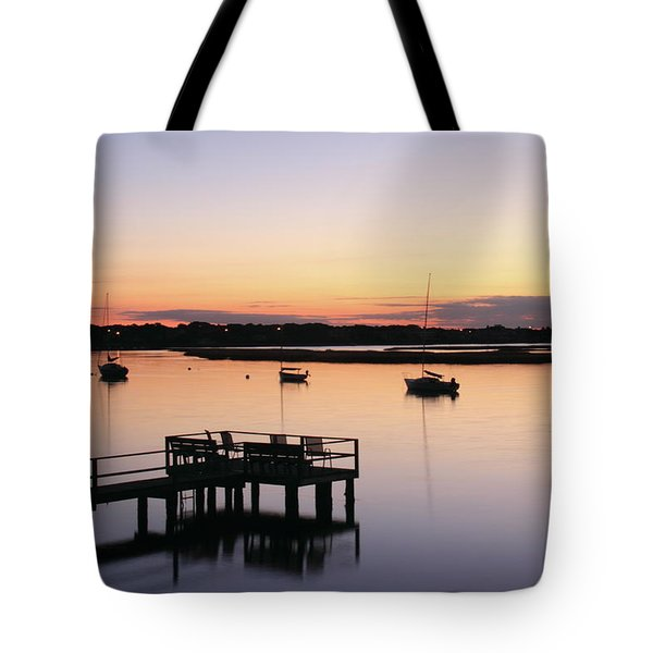 Bass River Before Sunrise Tote Bag by Roupen  Baker