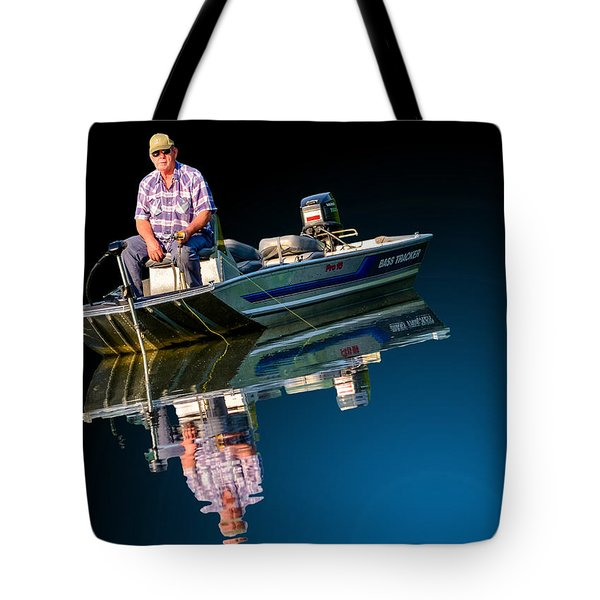 Tote Bag featuring the photograph Bass Tracker by Brian Stevens