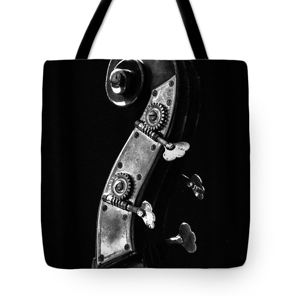 Bass Violin Tote Bag by Julia Wilcox