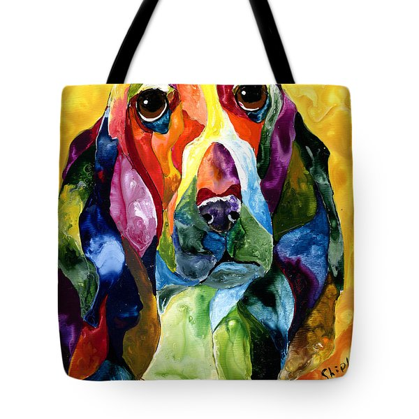 Basset Hound Blues Tote Bag