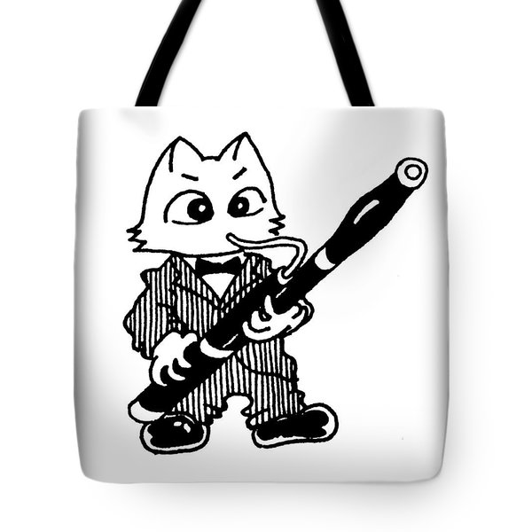 Bassoon Cat Tote Bag