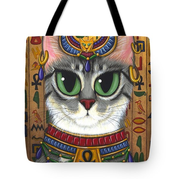 Bast Goddess - Egyptian Bastet Tote Bag