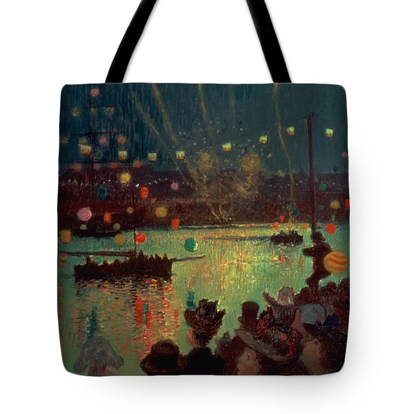 Bastille Day At Lorient Tote Bag by Henry Moret