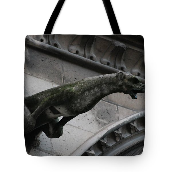 Bat Eared Dog Gargoyle Of Notre Dame Tote Bag