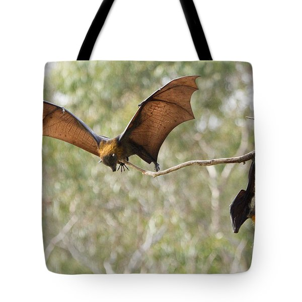 Bat Landing Tote Bag