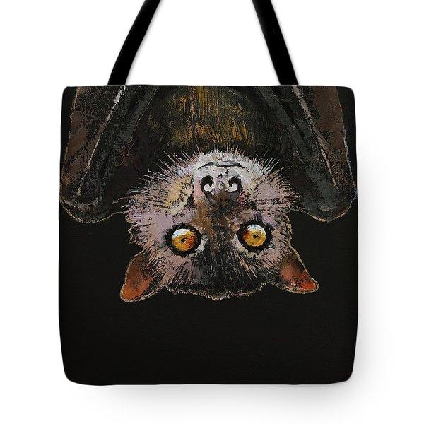 Bat Tote Bag by Michael Creese