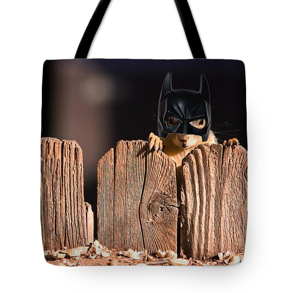 Bat Squirrel  The Cape Crusader Known For Putting Away Nuts.  Tote Bag by James BO  Insogna