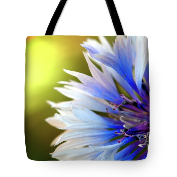 Batchelors Blue And White Button Tote Bag