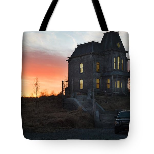 Bates Motel At Night Tote Bag