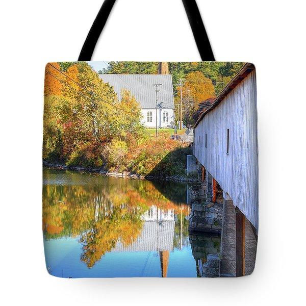 Bath Covered Bridge Tote Bag