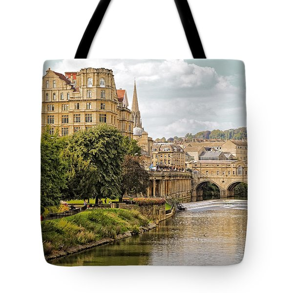 Bath-on-avon 2 By Mike Hope Tote Bag