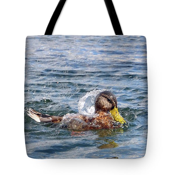 Bath Time Tote Bag by Glenn Gordon