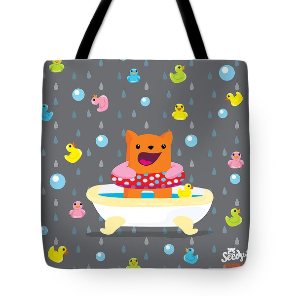 Bath Time  Tote Bag by Seedys