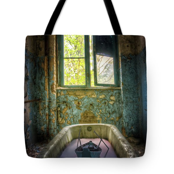 Tote Bag featuring the digital art Bath Toy by Nathan Wright